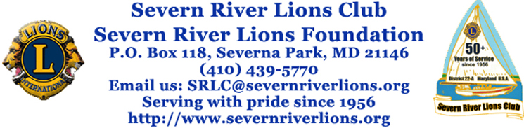 Severn River Lions Club mailing address - phone- email address